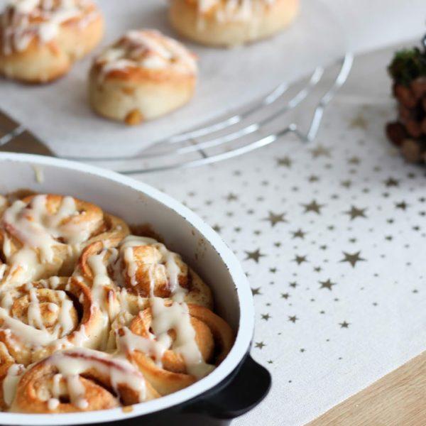 Rezept für Bratapfel Zimtschnecken