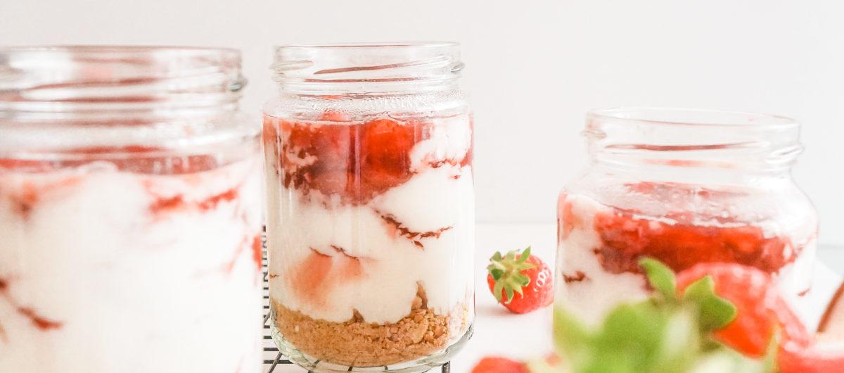 Erdbeer-Cheesecake im Glas